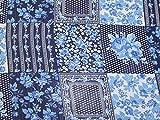 Minerva Crafts Crinkle-Chiffon-Stoff, Blau, Meterware