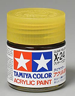 Tamiya TAM81024 Acrylic X24 Gloss,Clear Yellow