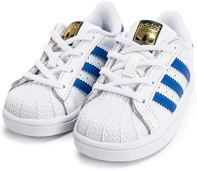 adidas Chaussures Superstar I Blanc/Bleu/Blanc