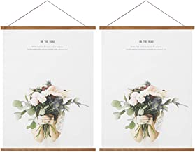 Miaowater 2 Pack Poster Frame,9x9 9x12 9x15 9x20 Magnetic Light Wood Wooden Frames Hanger for Photo Picture Art Canvas Pri...