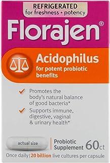 Florajen Acidophilus High Potency Refrigerated Probiotics | Supports Overall Health | 20 Billion CFUs | for Potent Probiot...