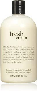 Philosophy Fresh Cream Shampoo, Shower Gel & Bubble Bath for Unisex, 16 Ounce