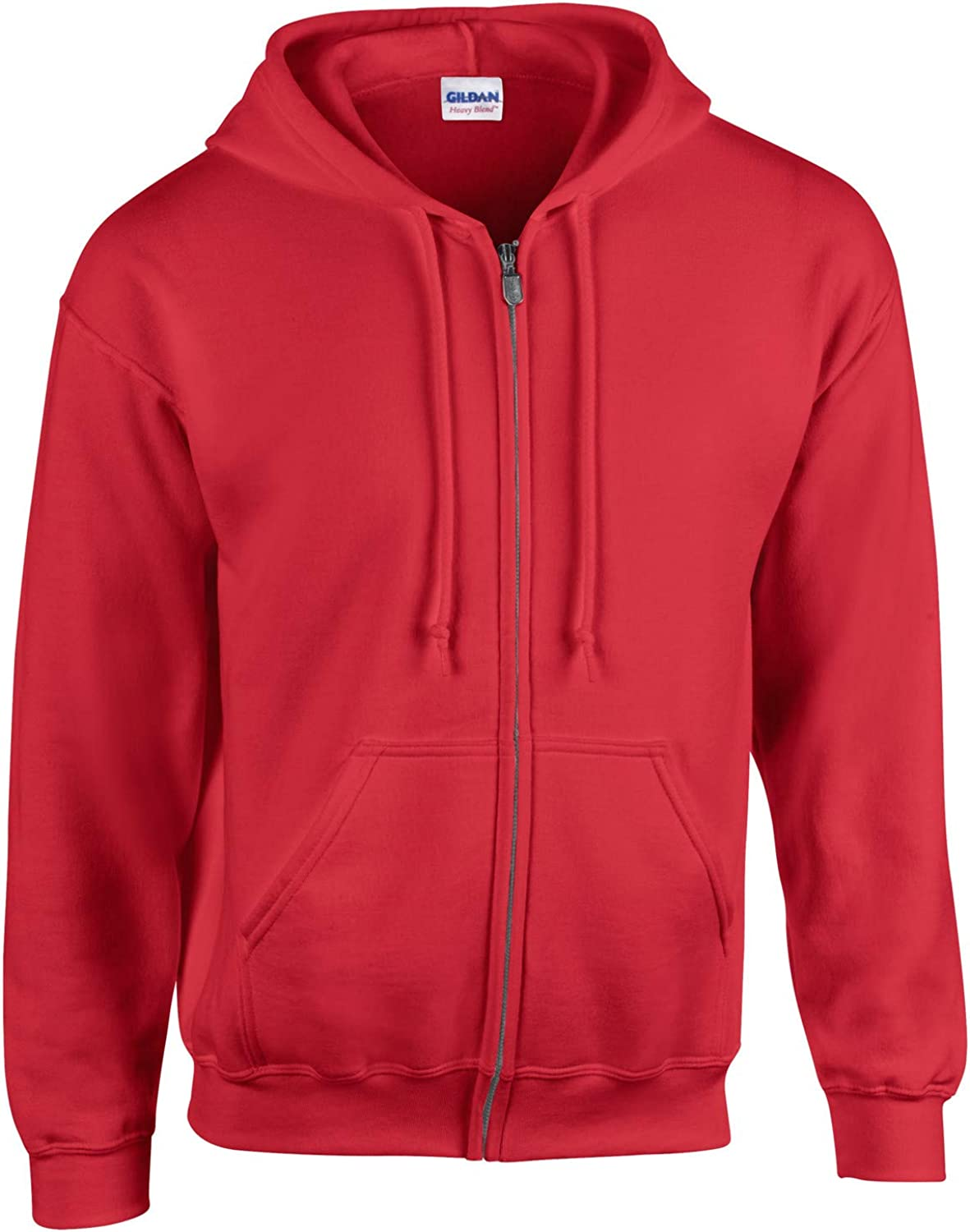 Hooded Zipper Cardigan Plus Size Casual Men's Sweater (Red, l)