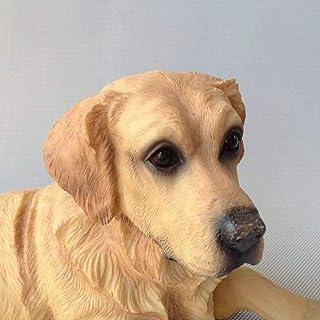 LONGWDS Escultura Creativo Marrón Labrador Retriever Resina Perro Pop Arte Europeo Resina Artesanía Estatua Estatua Orname...