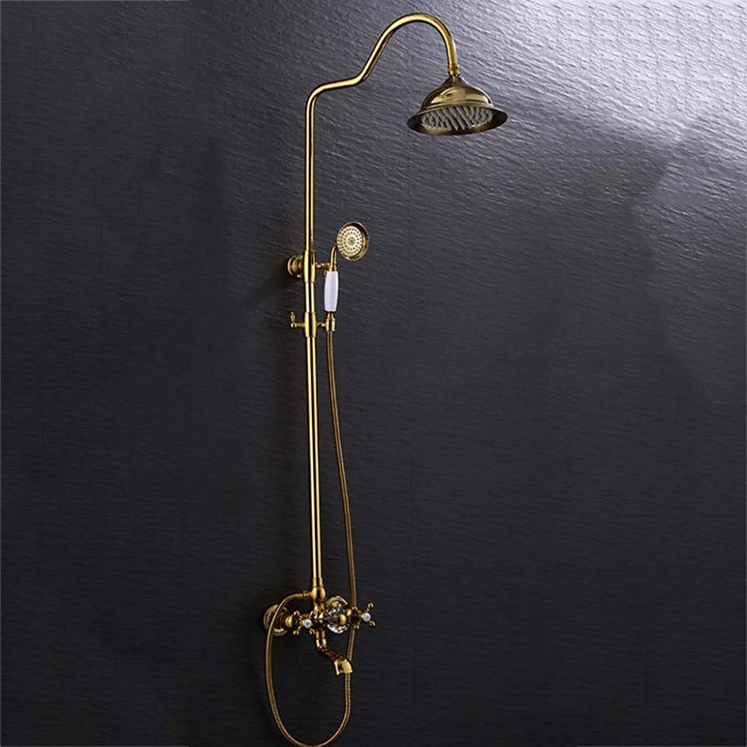 LHW Shower Set, European, retro, lifting, redating, hot and cold mixing valve faucet, shower set