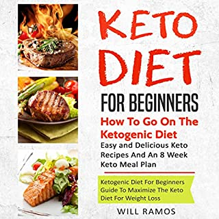 Keto Diet for Beginners: How to Go on the Ketogenic Diet      Ketogenic Diet Guide for Beginners to Maximize the Keto Diet for Weight Loss: Easy and Delicious Keto Recipes and an 8 Week Keto Meal Plan              By:                                                                                                                                 Will Ramos                               Narrated by:                                                                                                                                 Betty Johnston                      Length: 6 hrs and 24 mins     25 ratings     Overall 5.0