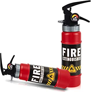 ArtCreativity Fire Extinguisher Squirter Toy (Pack of 2) 9 Water Extinguisher with Realistic Design | Fun Outdoor Summer T...