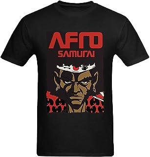 [Bonoo] メンズ コットン 半袖 Afro Samurai The Character T Shirt シャツ