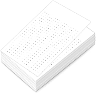 """White Dot Grid Vertical Index Cards, 3"""" X 5"""" Inches   100 Sheets Per Pack"""