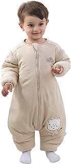 Babysovsäck med ben, varm, fodrad, vinter, barnsovsäck, avtagbara ärmar, pojke, flicka, unisex, pyjamas