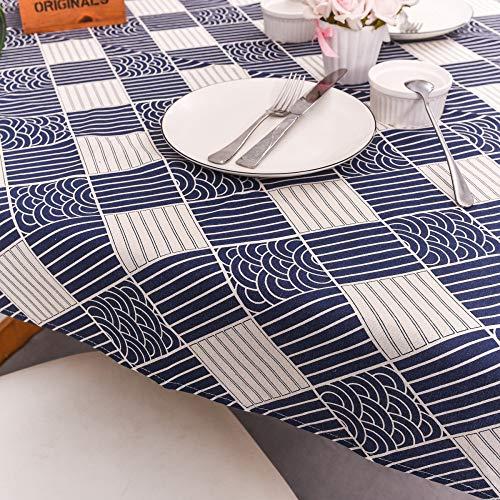 nobranded Comedor Cocina Cubierta de Mesa Rectangular Cubierta de Mesa de Lino y algodón Varios Patrones Varios tamaños Mantel Rectangular