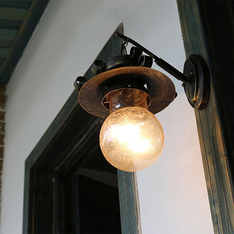 MITOYO Vintage Industrial Glas Wandlichter Retro Design Restaurant, Café Klassische Dekorative Leuchte1-Flammig