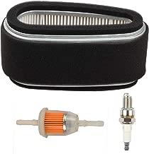 Hilom 11013-2110 Air Filter Fuel Filter for Kawasaki FC400V FC401V FC420V 14 HP 4-Cycle Engine John Deere M97211 M74285 LX172 LX176 Lawn Mower
