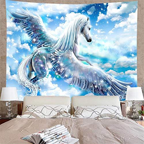 WERT Fondo de Unicornio paño de Pared Colgante de Pared Dormitorio Fondo de cabecera decoración de Tela de Pared Tapiz Tela de Fondo A5 150x200cm