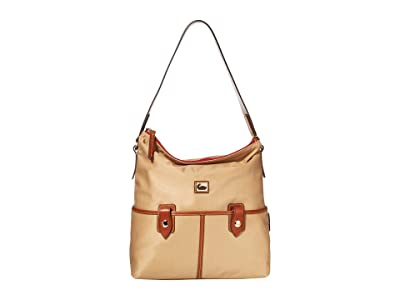 Dooney & Bourke Camden Sac (Natural/Dark Chocolate Trim) Handbags