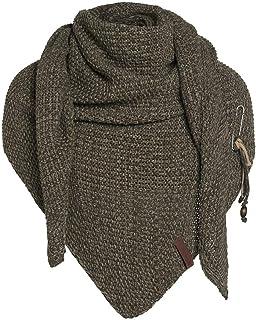 Knit Factory Dreiecksschal Coco - Damen Strickschal mit Wolle - Hochwertige Qualität - XXL Schal - 190 x 85 cm