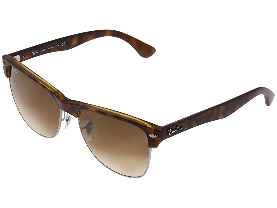 Ray-Ban RB4175 Oversized Clubmaster 57mm (Demi Shiny Havana/Brown Gradient) Fashion Sunglasses
