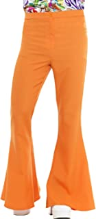 Mens 1960s 1970s Hippie Hippy Woodstock Peace Love Kick Flares Pants Fancy Dress Costume Outfit Trousers