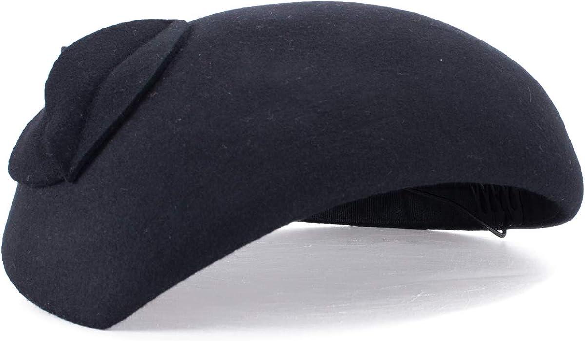 Lawliet Teardrop Women Limited time for free shipping Wool Felt Outlet SALE Tam Fascinator Beret Flower Hat