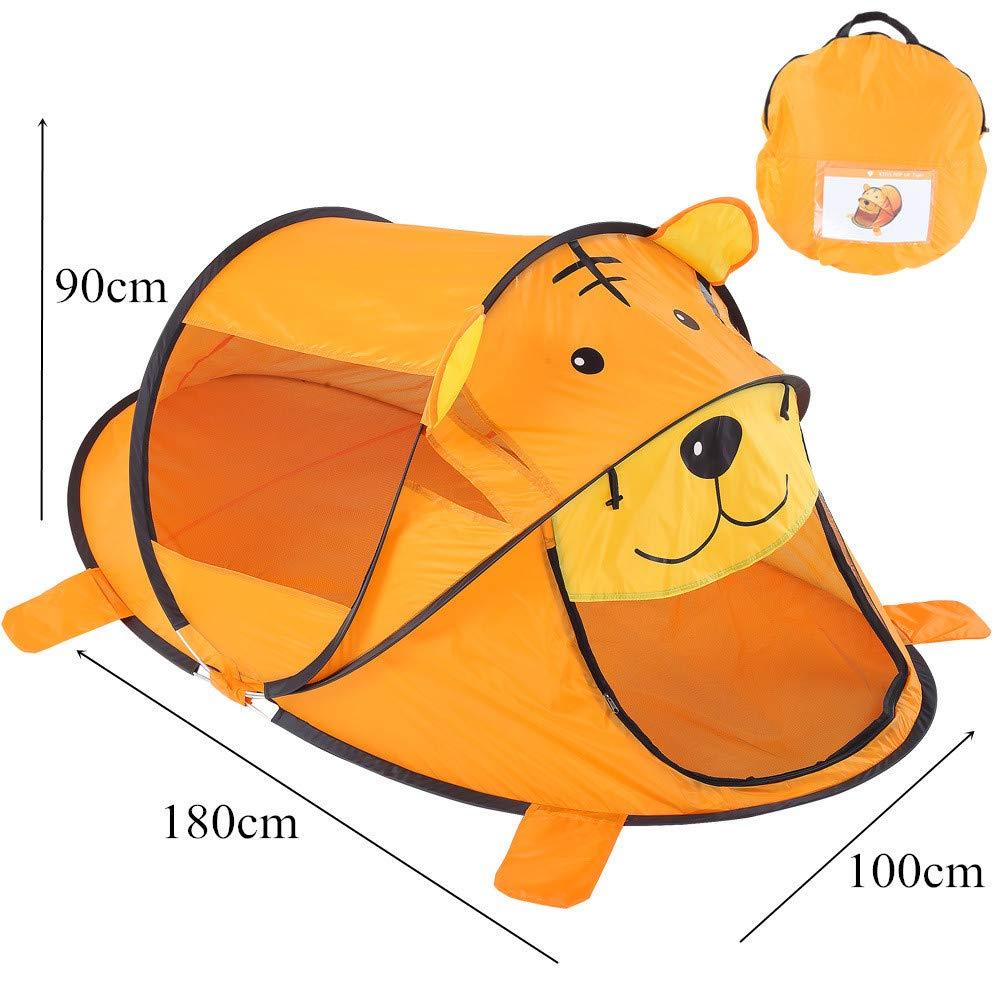 Carpa para Camping Tienda de campaña para niños Bebé de dibujos animados en el interior Juego de oso Casa de dormitorio Mosquitera de verano Jugar con niños de abeto Para mochilero Picnic