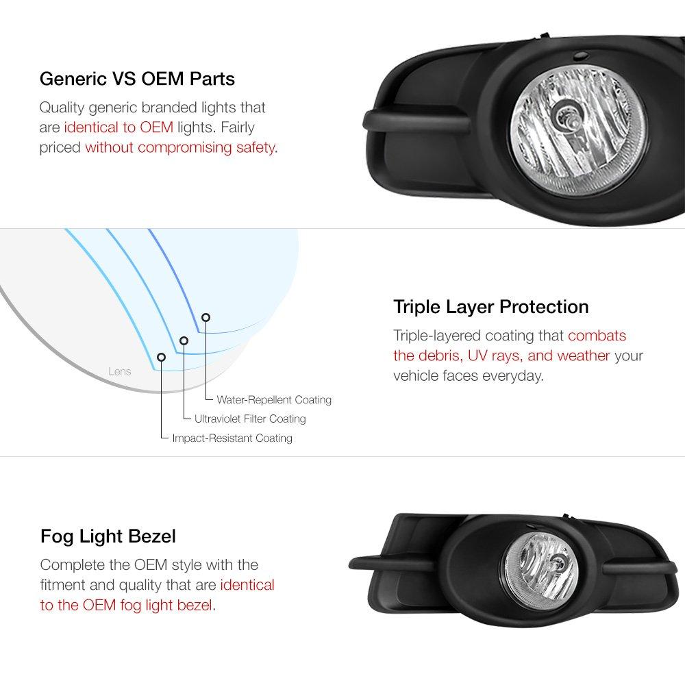 LED Fog Light Kit Protekz H10 6000K 1200W for 2007-2012 Mitsubishi GALANT