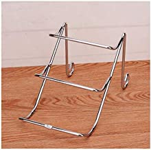 DPWH Living room decoration, household wine bottle rack creative wrought iron wine rack simple living room wine cabinet decoration display stand (Color : Silver, Size : 25.5 * 14 * 15cm)