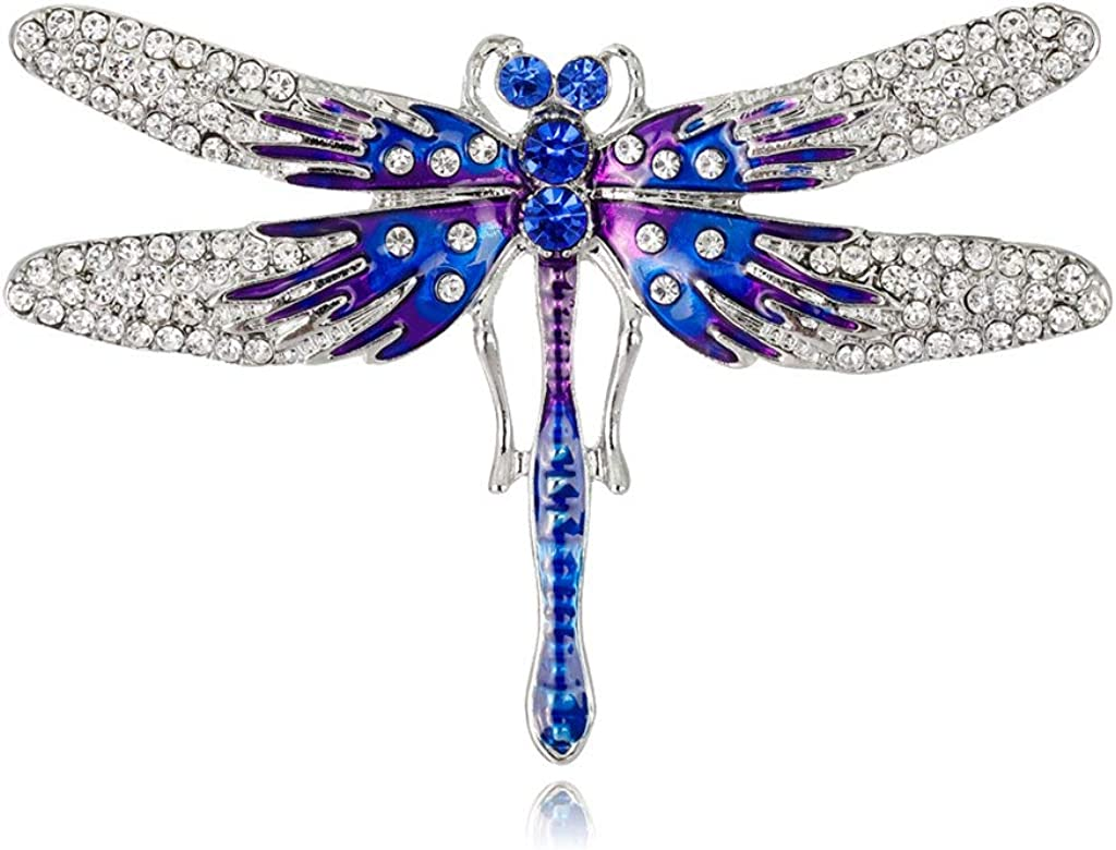 LIANGLIN WU Brooches Pins for Women & Girls, Dragonfly Brooch Fashion Insect Clothing Backpack Pins Enamel Corsage Badge Icon Jewelry Accessory for Bags Clothes Hats