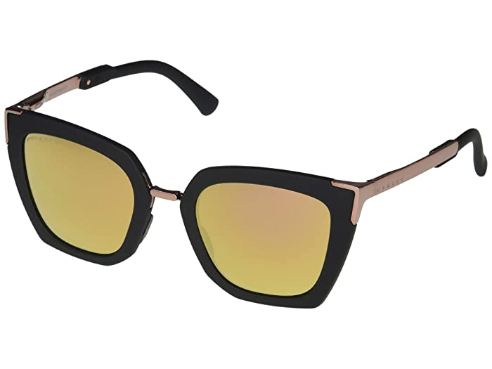 Oakley  51 mm Sideswept (Velvet Black Frame Prizm Rose Gold Polarized Lens) Fashion Sunglasses