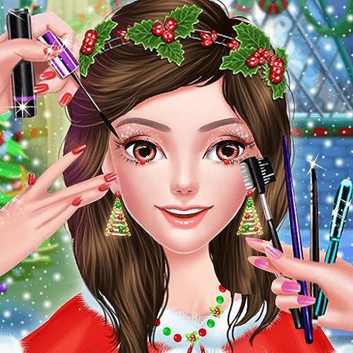 Celebración del día de Navidad Salón de maquillaje