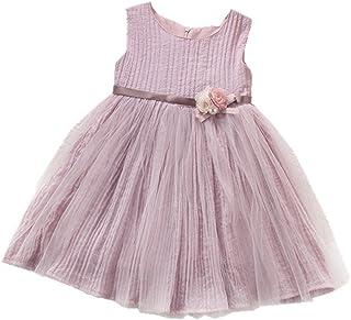 TMM ベビードレス 子供 プリンセスドレス キッズフォーマル ワンピース女の子 ガールズ ノースリーブドレス セレモニー七五三 結婚式 誕生日 発表会 入園式