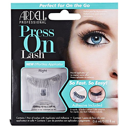ARDELL Press On Lash with Adhesive Pipette 109 Black Faux-cils