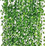 Künstliche Hängepflanzen Fake Ivy Blätter Girlande Geschenke Party Garten Hochzeit Wand Decor 86 Füße Efeu Künstlich Efeu Hängend Girlande Efeugirlande Künstlich für Büro Küche Garten Party