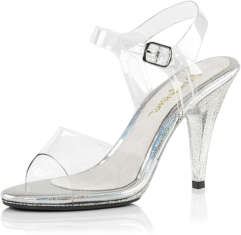 Higher-Heels Fabulicious Glitzer-Sandaletten mit klaren Riemchen Caress-408MG