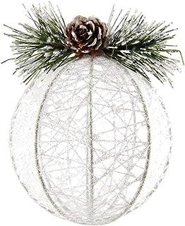 VOSAREA Adornos Colgantes de Navidad Glitter Creativo Bola de Hilo Decoración Colgante Adornos de Navidad Rústico