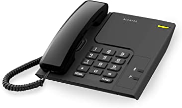 ALCATEL (アルカテル) T26 電話機 おしゃれ シンプル 壁掛け 受付用 オフィス用 ビジネス 業務用 家庭用 ホテル用 リダイヤル 日本語説明書付き ブラック