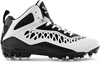 Boombah Men's Gamma Burst Molded Mid Football Cleats - 21 Color Options - Multiple Sizes