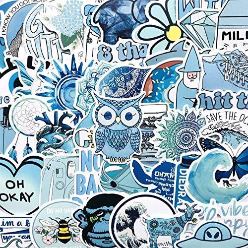 PMSMT 10/30/50 Uds Azul Serie Fresca Paisaje teléfono móvil portátil Equipaje Coche Impermeable papelería decoración Pegatinas al por Mayor