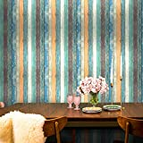 Uhitmi Wall Paper Sticker Pull and Stick, Wood Plank Wallpaper Peel and Stick Removable Self Adhesive Wood Contact Paper Decorative for Cabinets Countertops Drawers, 17.7 x 118 Inch