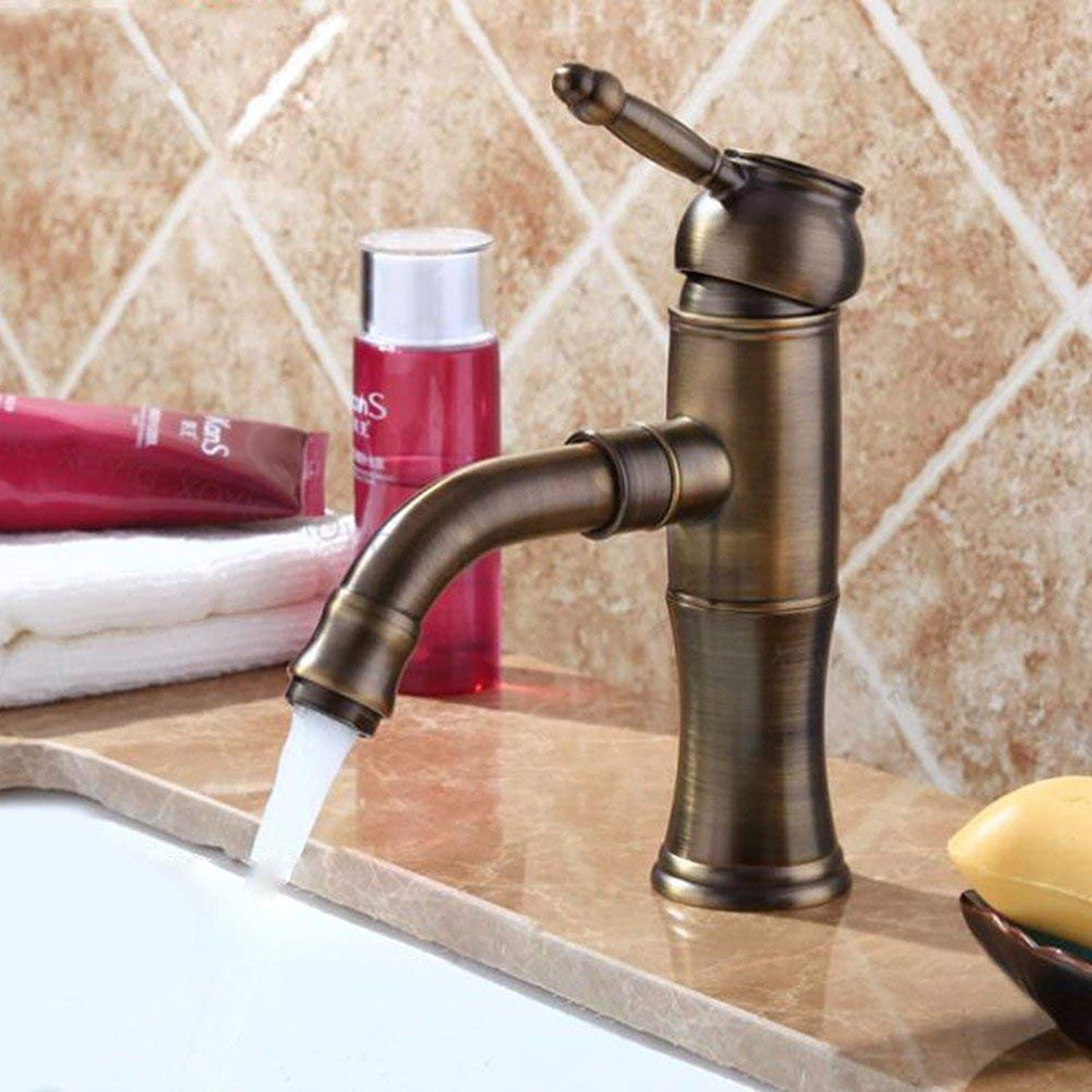 Modern golden pink gold hot and cold faucet copper plated shower faucet (color   -, Size   -)