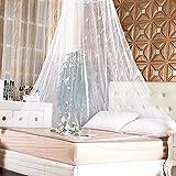 babytowns 250 * 60 cm Moskitonetz Groß Mückennetz,Insektennetz Betthimmel für Einzelbett, Feinmaschig Mesh,für Zuhause auch auf der Reise - 8