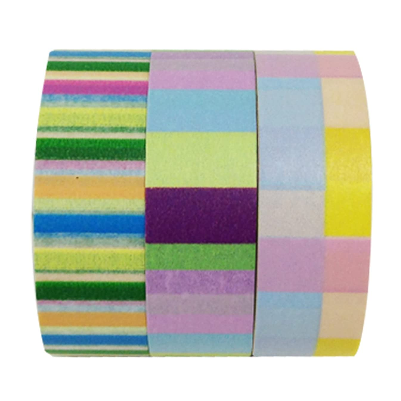 Wrapables Three of Us Washi Masking Tape, 10m by 15mm, Set of 3