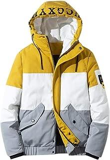 YANYUN Winter Men Hoodies Coats 2019 Fashion Zipper Jacket Parka Outwear Long Sleeve Packable Light Overcoat 4XL