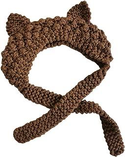 COMVIP Baby Crochet Knitted Winter Headband Hat Kid Cartoon Earflap Cap