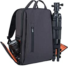 IDAND Camera Backpack DSLR/SLR Camera Bag Multifunction Travel Outdoor Waterproof Tablet 15.6 inch Laptop Bag for Sony Canon Nikon Black