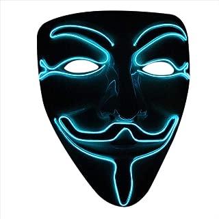 Halloween Cosplay Masquerades LED Mask V for Vendetta Mask