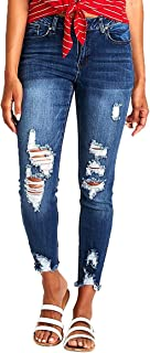 Women's Ripped Boyfriend Jeans Cute Distressed Jeans...
