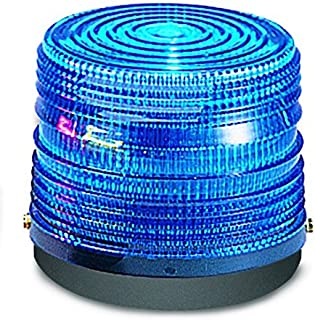 Federal Signal 141ST-012B Electra Flash Strobe Warning Light, Single Flash, Surface Mount, 12 VDC, Blue