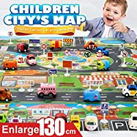 カラフル 道路 マット プレイマット キッズ 子供 おもちゃ ミニカー シート