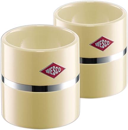 Preisvergleich für Wesco 322864-23 Eierbecher 5.00 x 5.00 cm, 2-teilig, mandel