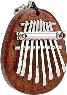 QOONESTL 8 Key Thumb Piano,Pocket Thumb Finger Piano,Beginne